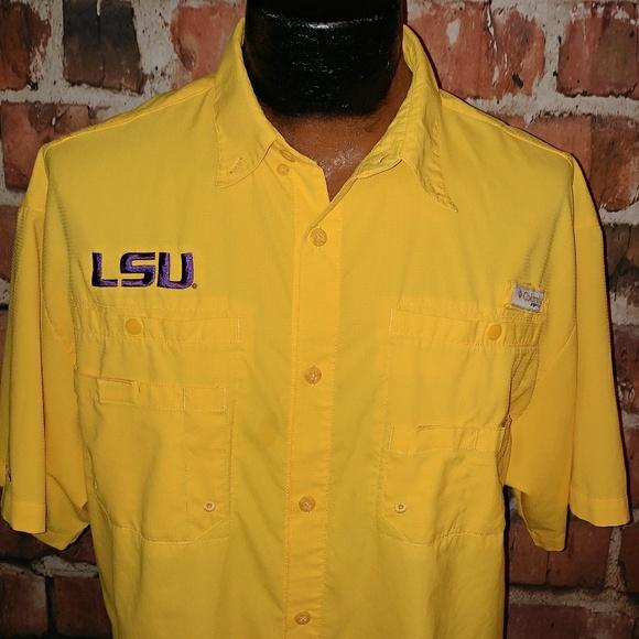 da0483bbed1b4 Columbia Other - Columbia PFG LSU Tigers Mens Shirt L